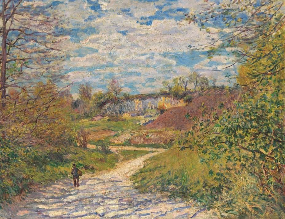 Alfred Sisley, 7IE-1882-176, Soleil d'hiver à Veneux. Maybe(?): 1879, CR341, Winter sun in Veneux-Nadon, 50x65, A2020/02/06