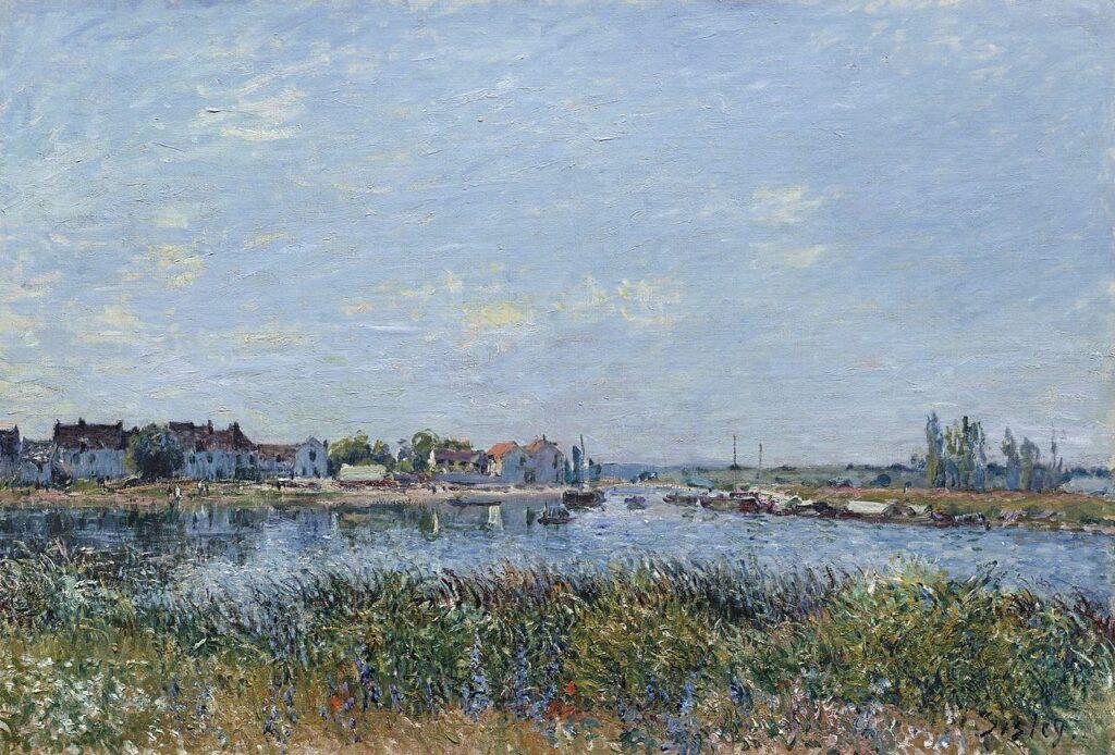 Alfred Sisley, 7IE-1882-177, La confluent de la Seine et du Loing. Maybe(?): 1881, CR421, Saint-Mammès, morning, 50x74, 2011/11/02