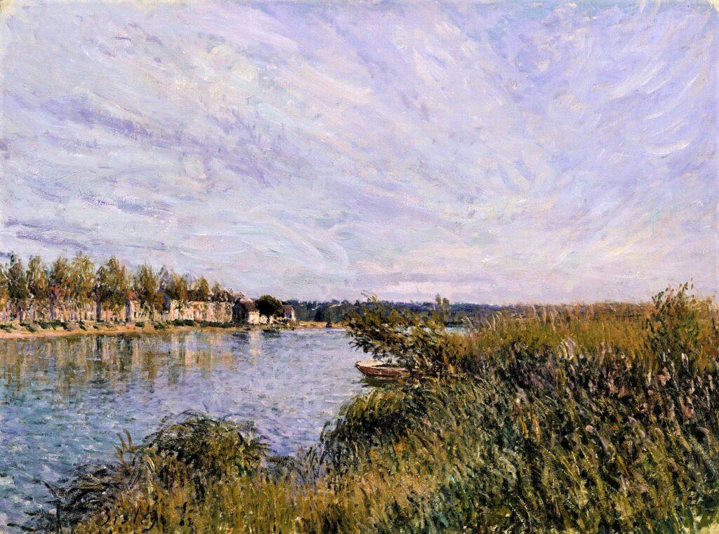 Alfred Sisley, 7IE-1882-177, La confluent de la Seine et du Loing. Maybe(?): 1881, CR426, View of Saint-Mammès , 54x73, WAM Baltimore