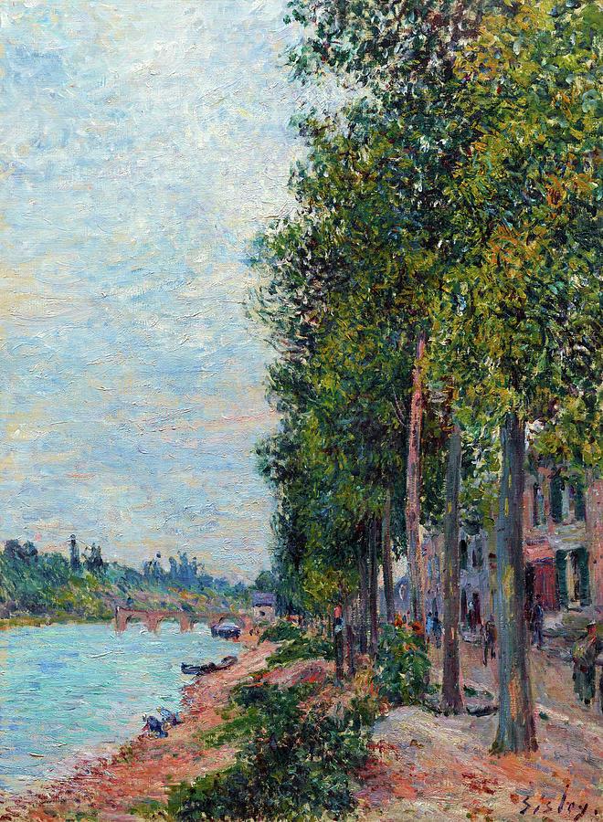 Alfred Sisley, 7IE-1882-179, Saint-Mammès. Maybe(?): 1880, Road along the Seine at Saint-Mammès, 108x90, Dallas MA