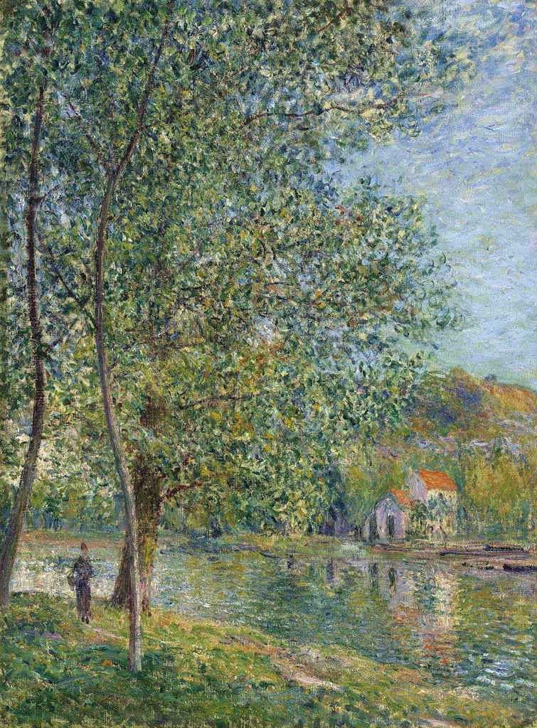 Alfred Sisley, 7IE-1882-180, Le chemin des fontaines à By. Compare: 1879, CR336, Matin près du Loing, 73x55, A2011/06/21