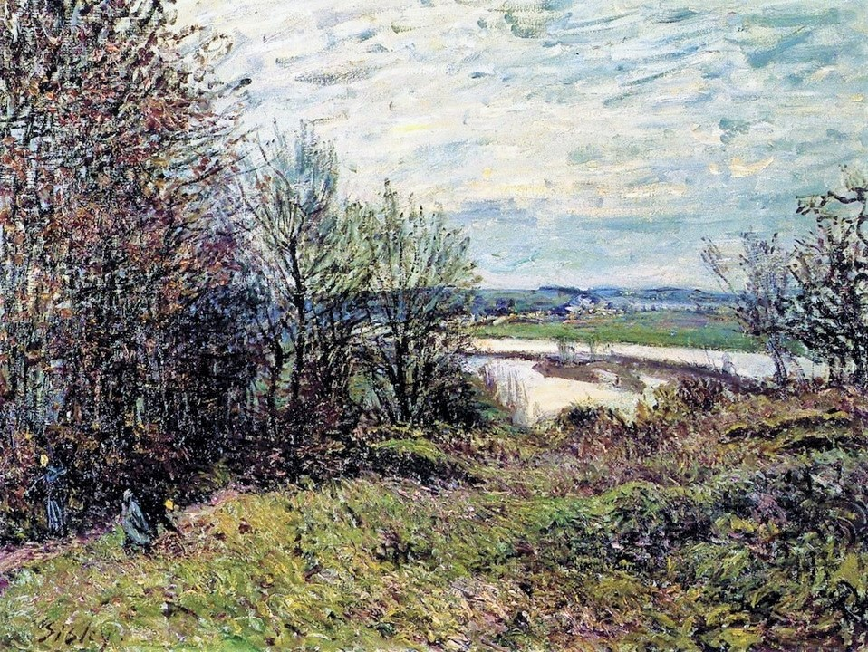 Alfred Sisley, 7IE-1882-181, La Sente des roches. Compare: 1880, CR403, The Roches-Courtaut Wood, near By, 50x65, private