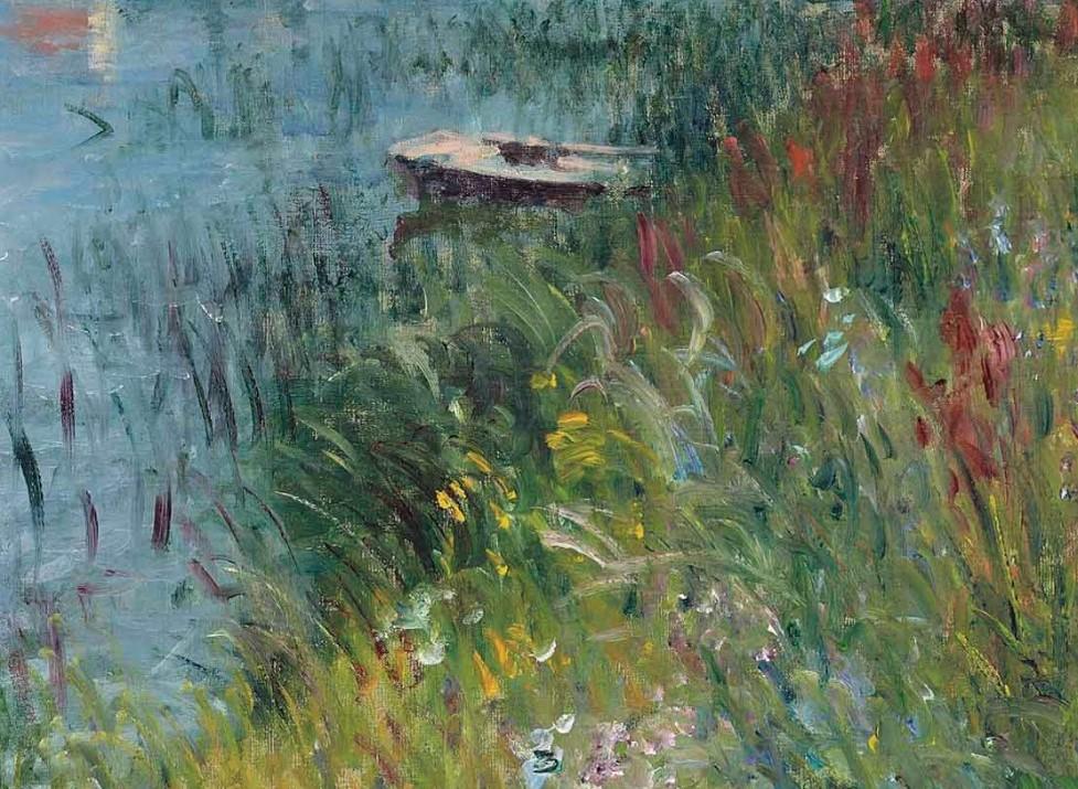 Alfred Sisley, 7IE-1882-182, La Vue du bord de l'eau à Saint-Mammès. Maybe(??): 1880, CR388, Riverbank at Saint-Mammès (detail), 50x65, A2017/06/27