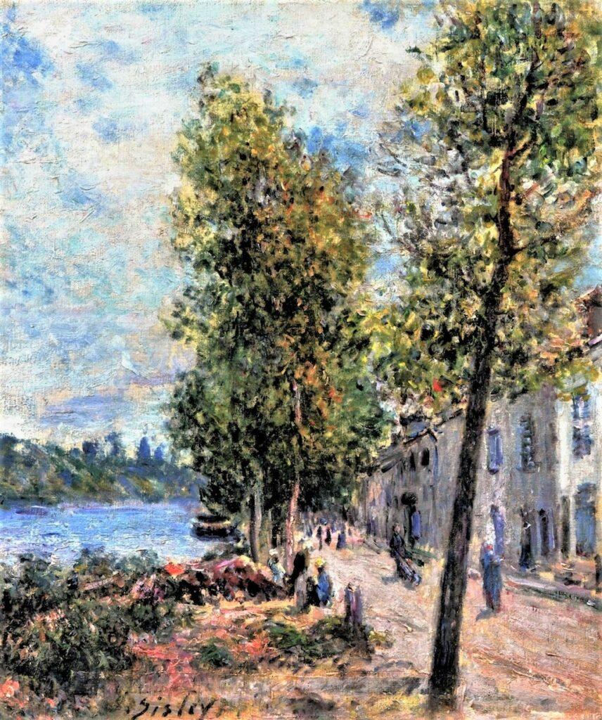 Alfred Sisley, 7IE-1882-179, Saint-Mammès. Maybe(??): 1879-80, Saint-Mammès, 46x38, private