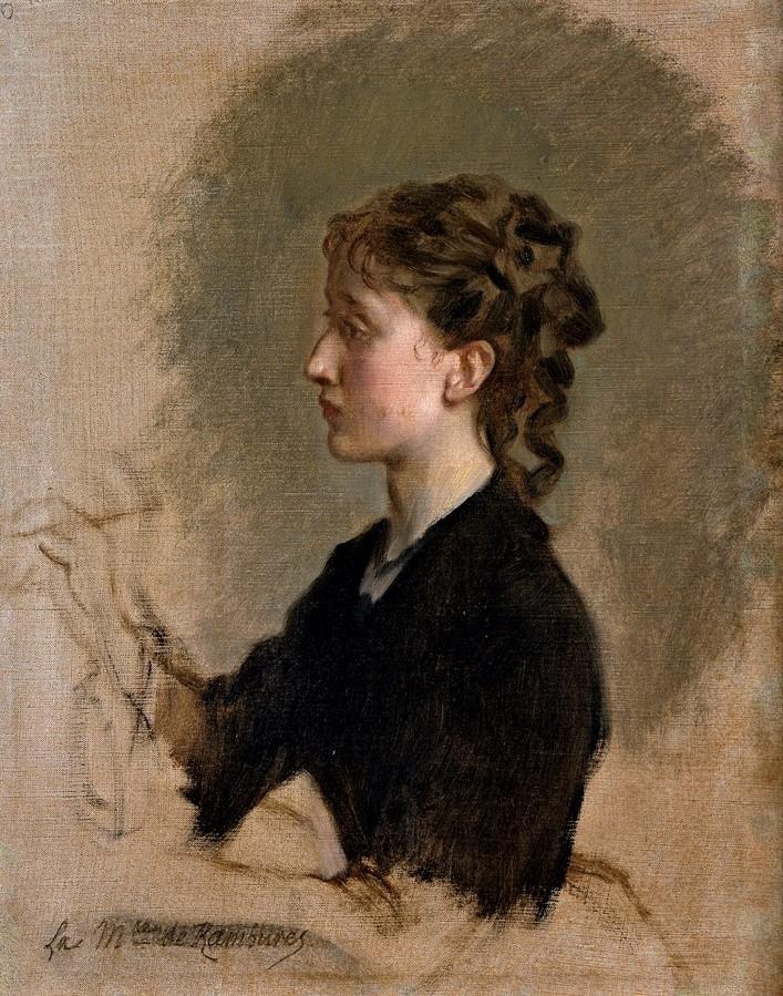 Federico de Madrazo y Kuntz (1815-94), 1871ca, Louise Amour Marie Bouillé, (Marquesa de Rambures), 39x31, Prado Madrid