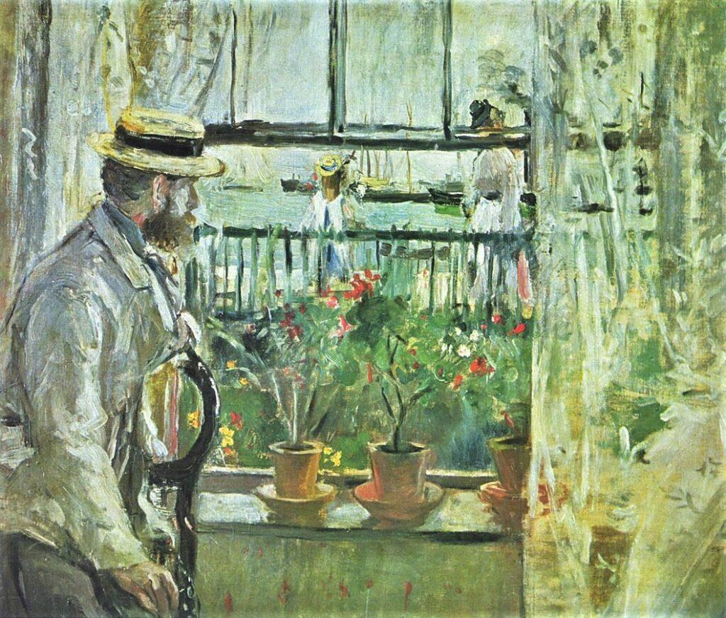 Berthe Morisot, 1875, CR51, Eugene Manet on the Isle of Wight, 38x46, Marmottan