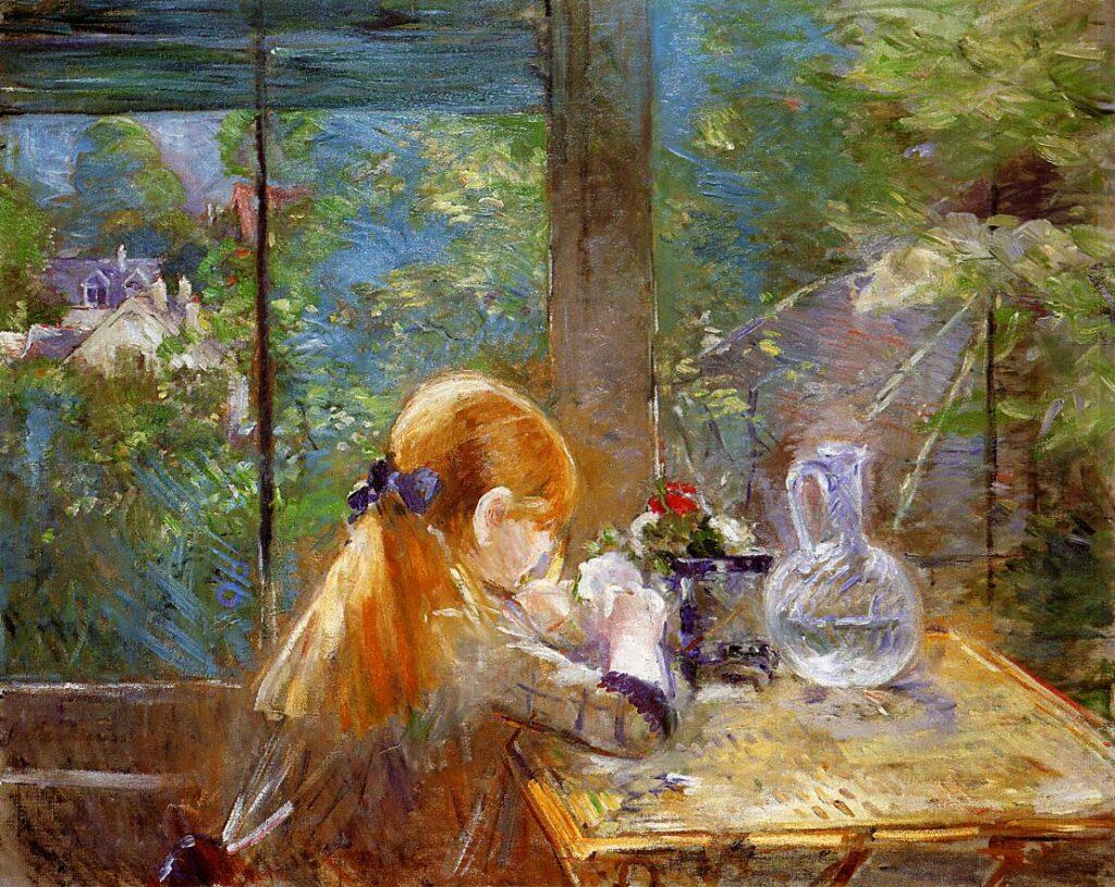Berthe Morisot, 1884, CR160, On the Veranda (at Bougival), 81x100, A2015/05/14