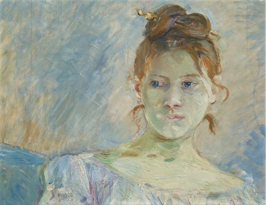 Berthe Morisot, 1887, CR210, Paule Gobilard en robe de bal (detail), 73x60, A2020/06/04
