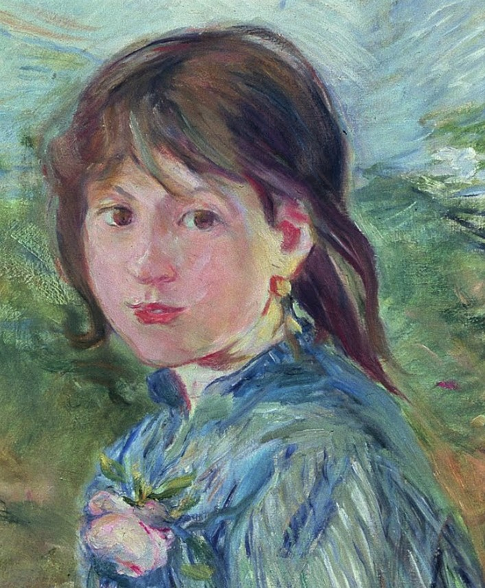 Berthe Morisot, 1889, CR232, The little girl from Nice (La Petite Niçoise; detail), 62x52, MBA Lyon