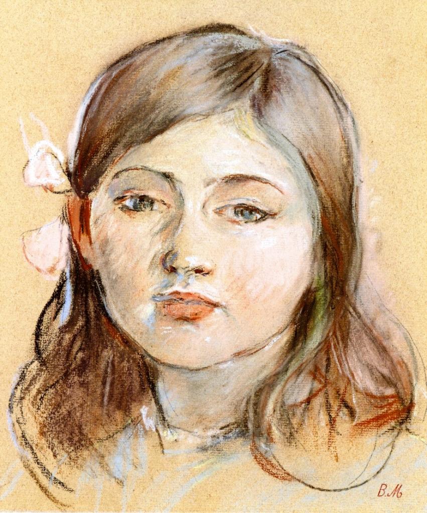Berthe Morisot, 1889, CR552, Portrait of Julie, pastel, 26x22, private