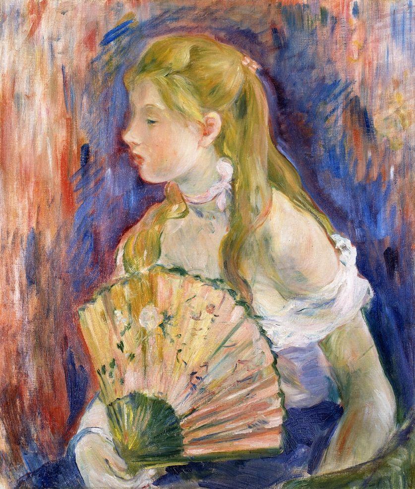 Berthe Morisot, 1893, CR343, Jeune fille à l'éventail, 65x54, A2007/02/06