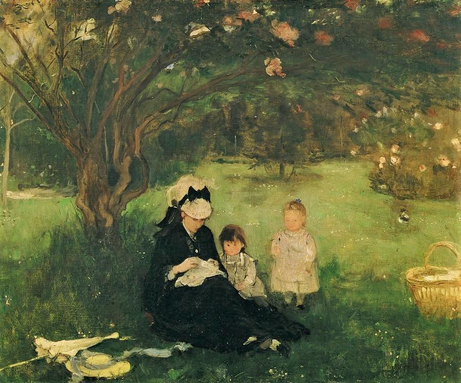 Berthe Morisot, 2IE-1876-169, Déjeuner sur l'herbe cp1874, CR35, Lilacs at Maurecourt, 51x61, private