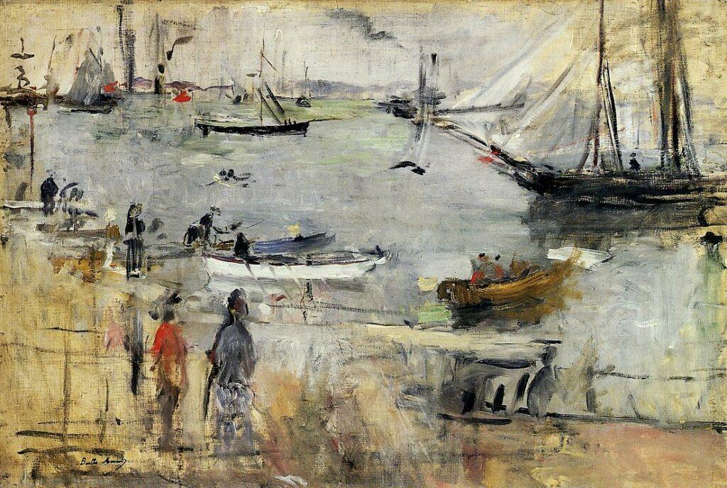 Berthe Morisot, 2IE-1876-170, Vue de Solent (Ile de Wight) Maybe(??): 1875, CR54, Scène sur le port, Île de Wight, 43x64, Newark M