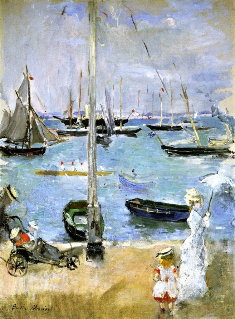 Berthe Morisot, 2IE-1876-171, West Cowes, Île de Wight Maybe(?): 1875, CR52, West Cowes, Isle of Wight , 48x36, A1997/11/28