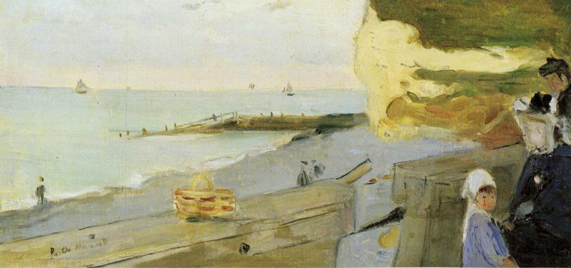 Berthe Morisot, 2IE-1876-173, Plage de Fécamps =1873, CR30, The Beach of Fécamp, 24x51, private