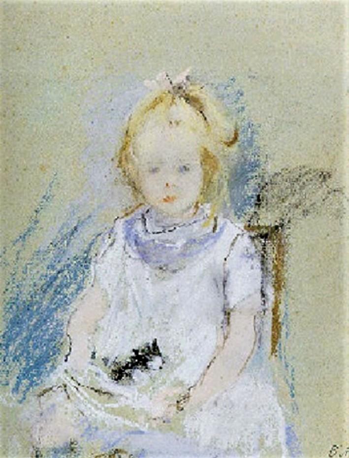 Berthe Morisot, 2IE-1876-182, Trois dessins au pastel. Compare: 1877, CR438, Blanche Pontillon en blanc, pastel, 24x19 or 46x39, A2007/11/28?