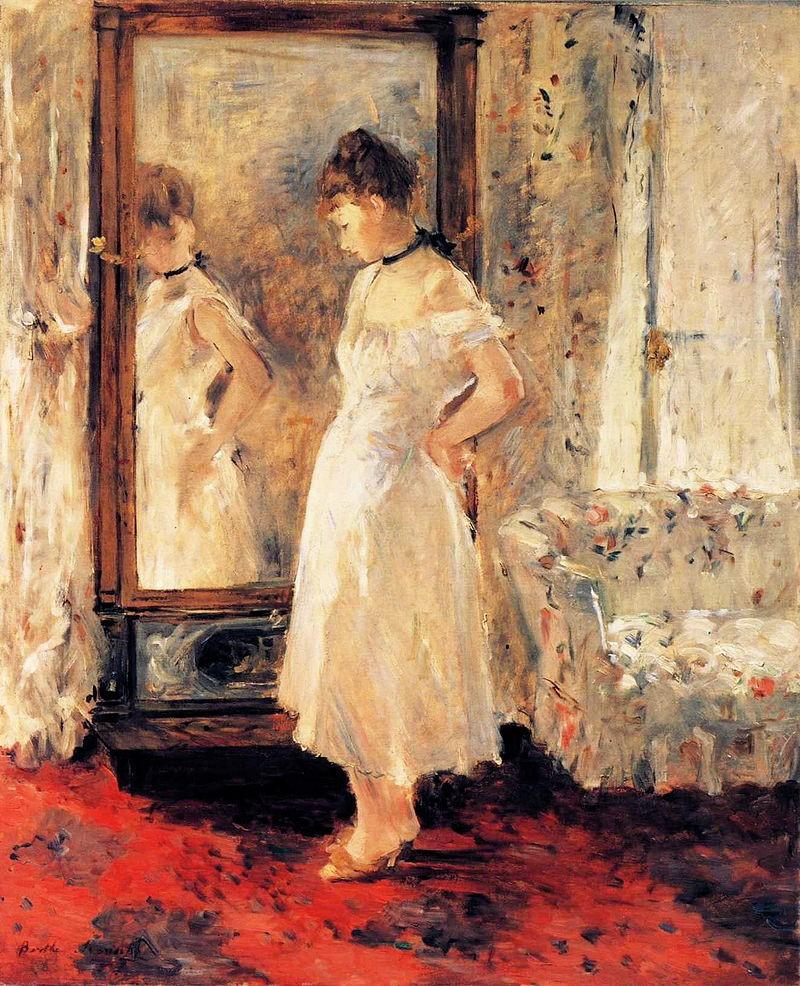 Berthe Morisot, 3IE-1877-121, La Psyché =1876, CR64, Psyche, 65x54, TBC Lugano