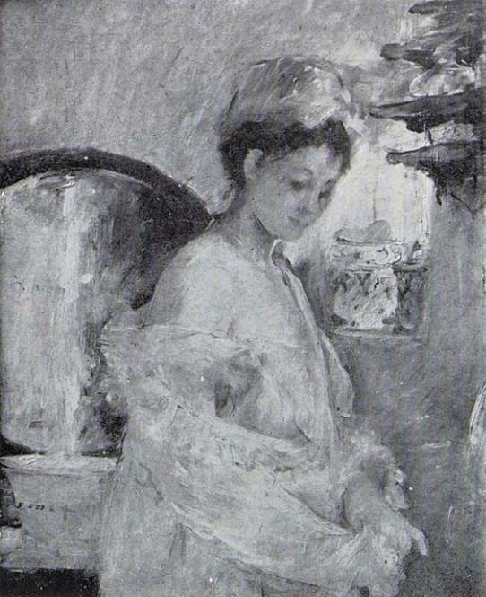 Berthe Morisot, 3IE-1877-123, Jeune Femme à sa toilette. Maybe: 1876, CR63, La Toilette, xx, xx