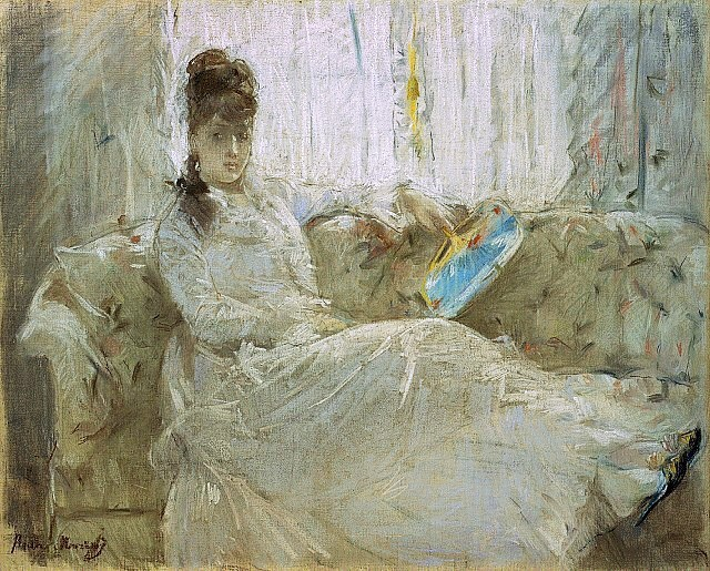 Berthe Morisot, 3IE-1877-125, Pastel, =1877, dreamer, pastel, 50x61, NAMA Kansas City