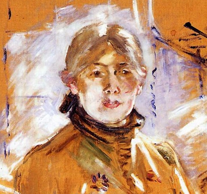 Berthe Morisot, 3IE-1877-130, dessin. Compare: 1885, CR167, Portrait of Berthe Morisot and Her Daughter (Self-Portrait with Julie; detail), 72x91, private