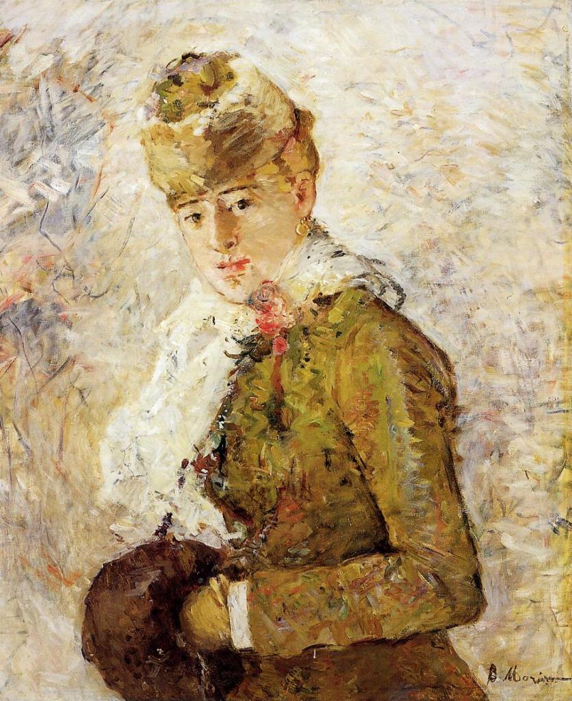 Berthe Morisot, 5IE-1880-114, Hiver =1880, CR86, Winter (Woman with a Muff), 74x59, Dallas MA