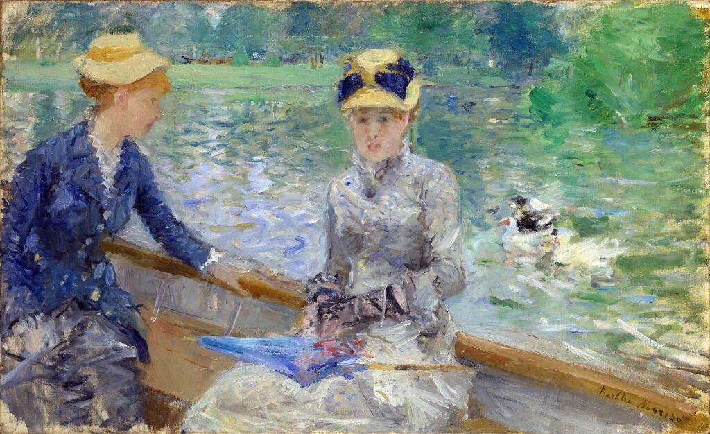 Berthe Morisot, 5IE-1880-116, Le lac du bois de Boulogne =1879, CR79, Summer's day, 46x75, NG London