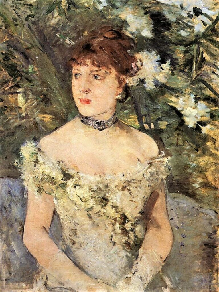 Berthe Morisot, 5IE-1880-120, Portrait, 1879, CR81, Young Woman Dressed for the Ball, 71x54, Orsay