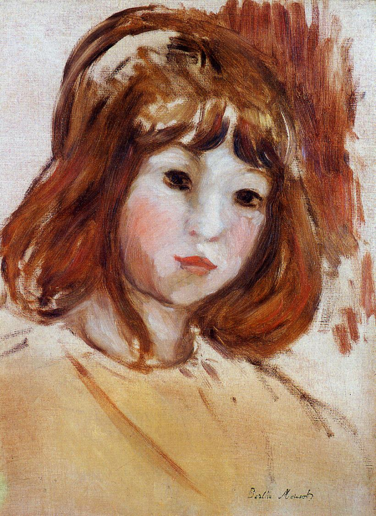 Berthe Morisot, 5IE-1880-121, Tête de jeune fille. Maybe(???): 1870-80, Portrait of a Young Girl, xx, private