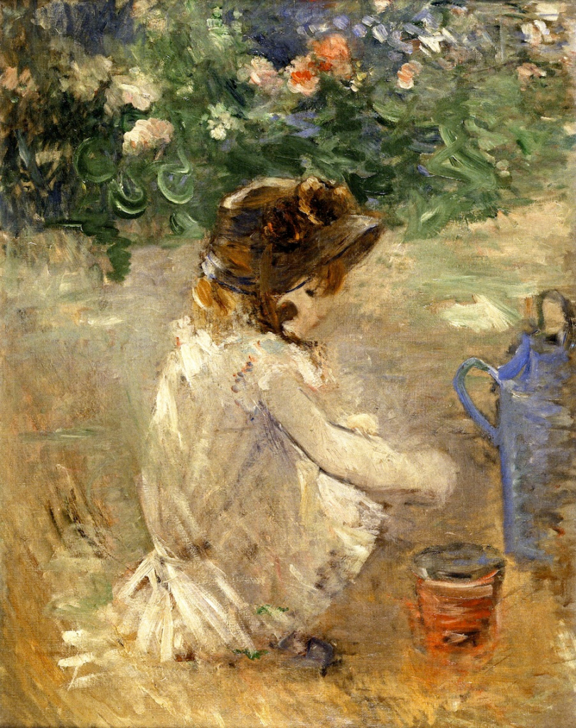 Berthe Morisot, 7IE-1882-100+hc1(?), Bibi et son tonneau. Maybe(?): 1882, CR120, Mud Pie, 92x73, private