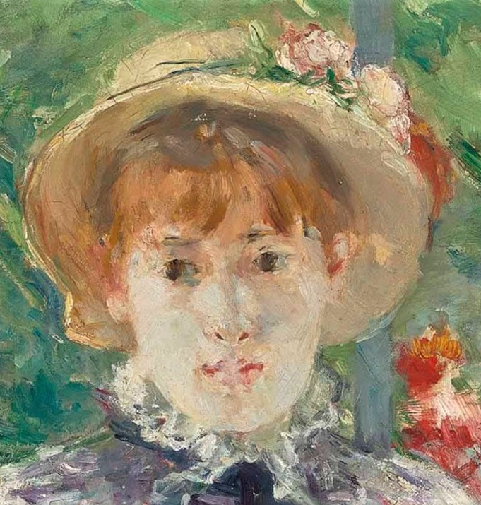 Berthe Morisot, 7IE-1882-92, A la campagne =1881, CR110, After the Luncheon (detail), 81x100, A2013/02/06