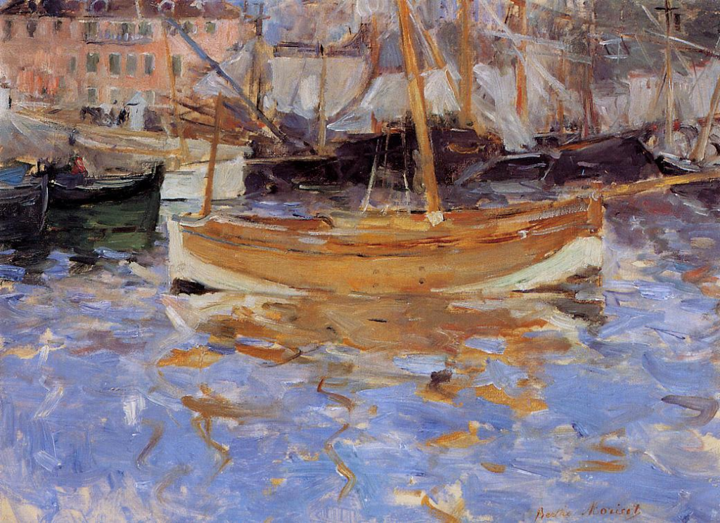 Berthe Morisot, 7IE-1882-96, Port de Nice =1882, CR113, The Port of Nice, 41x55, private