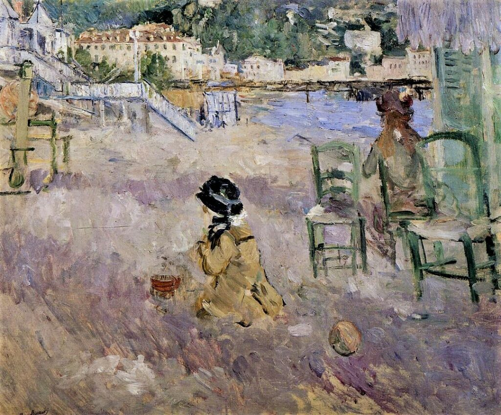 Berthe Morisot, 7IE-1882-97, Port de Nice =1882, CR116, The Beach at Nice, 46x56, A2013/11/06