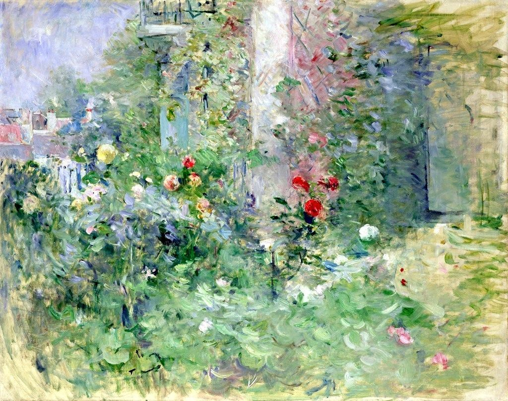 Berthe Morisot, 8IE-1886-83, Jardin au Bougival =1884, CR148, The Garden at Bougival, 72x92, Marmottan (or private)