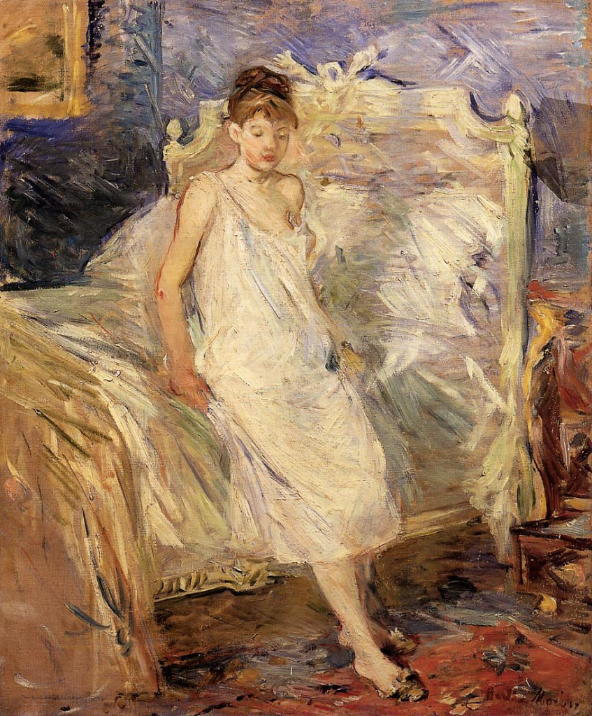 Berthe Morisot, 8IE-1886-87, Le Lever =1886, CR191, Getting up, 65x54, private