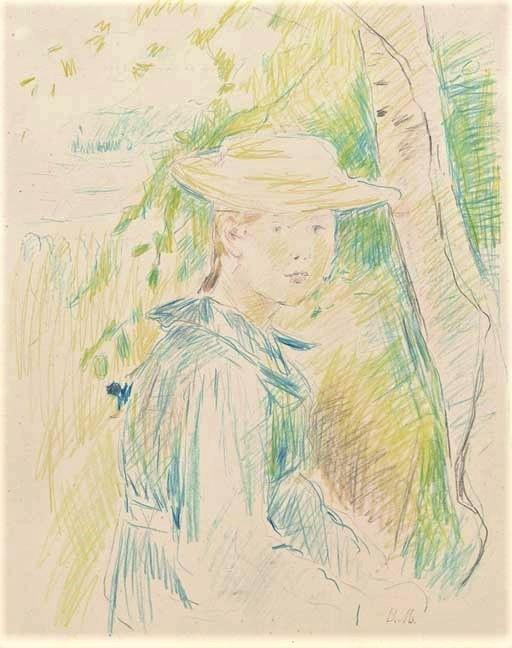 Berthe Morisot, 8IE-1886-92-2, Série de dessins. Maybe(??) 18xx, Portrait de Paule Gobillard, dr, 31x24, A2007/05/10