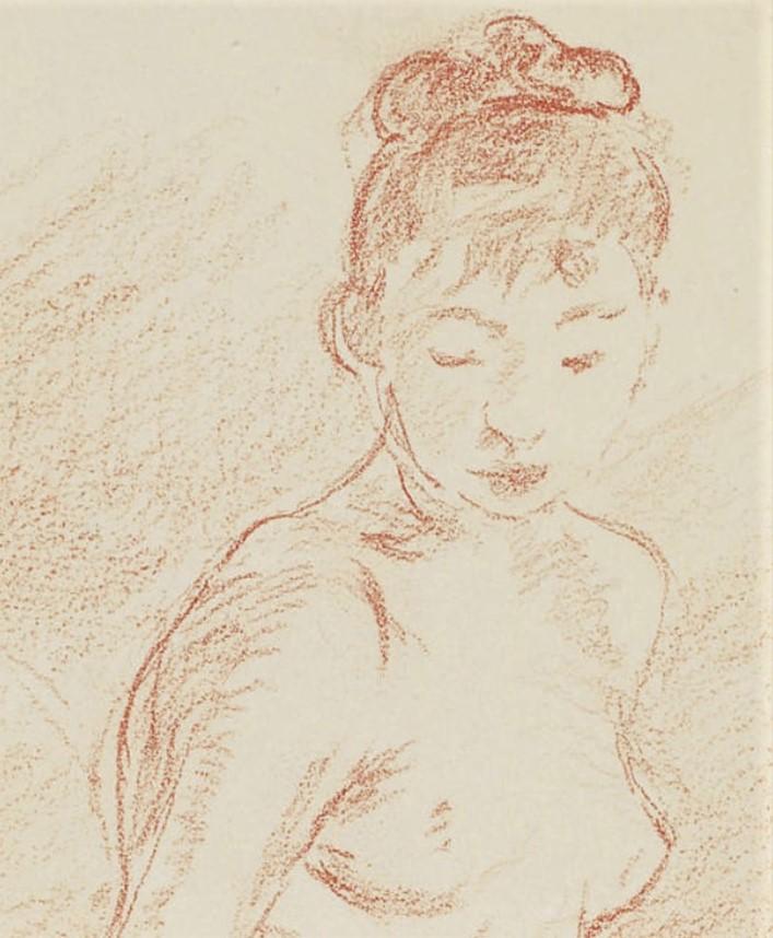 Berthe Morisot, 8IE-1886-92-4, Série de dessins. Maybe(??): 1886ca, Nude (detail), dr, 31x25, A2008/12/02