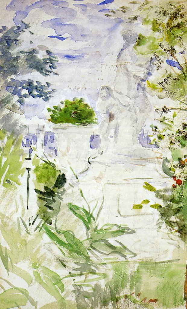Berthe Morisot, 8IE-1886-93-5, Série d'aquarelles. Maybe(??): 1885, The Tuileries, wc, xx, private