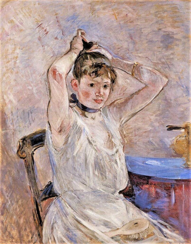 Berthe Morisot, 8IE-1886-94bis, Au bain =1885-86, CR190, The Bath, 91x72, CAI Williamstown