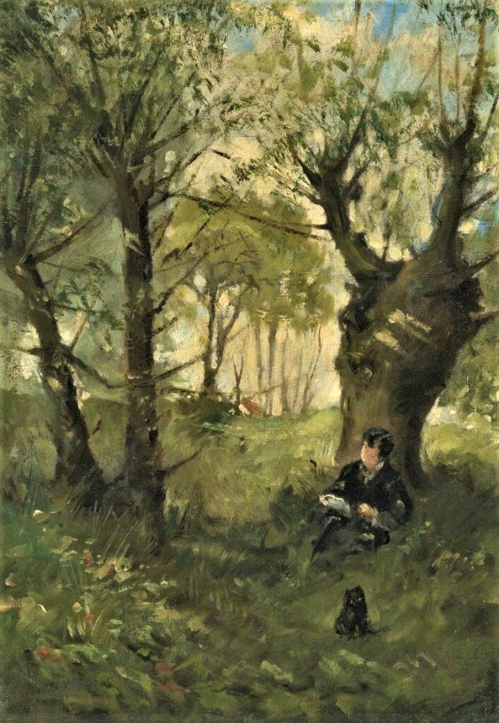 Berthe Morisot, S1864-1395, Vieux chemin à Auvers =1863, CR6, Vieux chemin à Auvers, 46x32, A2013/11/07 (iR11;iR2;iR1;R100,p23;R42,p13)