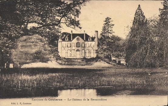 Berthe Morisot, S1866-1411, Bermondière, Orne =1865, CR9, (le chateau de) la Brémondière, xx, disappeared (iR10;iR1;R100,p23) Compare old photo of Le Château de la Bermondière (iR10).