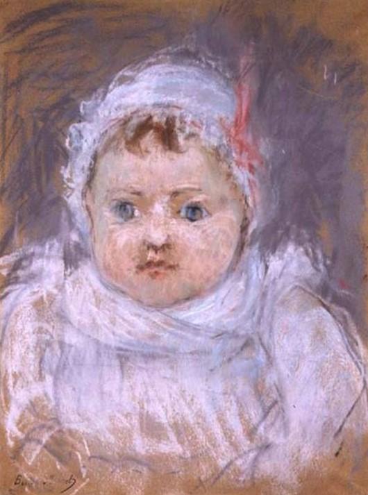Berthe Morisot, S1873-1090, Blanche; pastel. Maybe: 1872, CR422, Blanche Pontillon as a Baby, pastel, 33x25, xx (iR157;iR10;iR169;iR6;iR1;R100,p51)