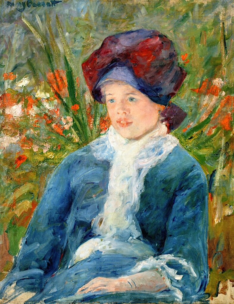 Mary Cassatt, 8IE-1886-10, Portrait. Maybe(??): 1882-3, CR107, Susan seated in Garden, 65x50, A2017/05/15 (iR92;iR11;R2,p444;R187,p66)