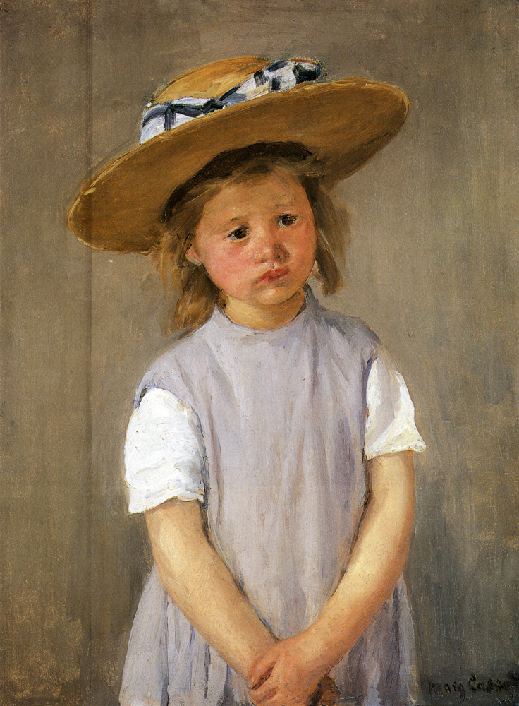 Mary Cassatt, 8IE-1886-10, Portrait. Maybe(?): 1886ca, CR143, Child in Straw Hat, 64x49, NGA Washington (iR92;iR3;R2,p444;R187,p82)
