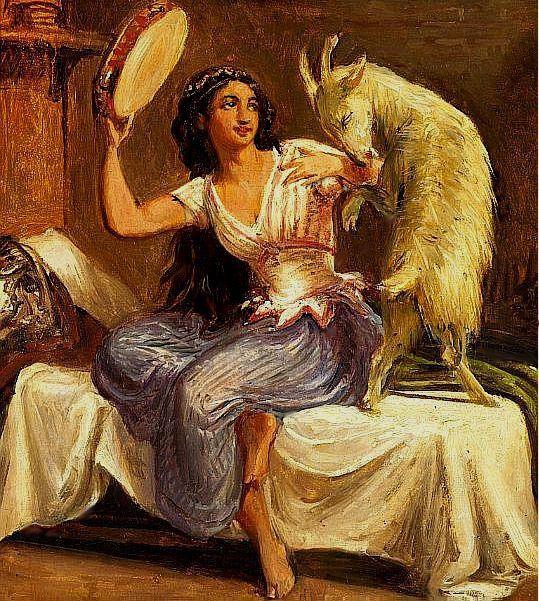 August Renoir, S1864-R =1864ca, La Esmeralda, xx. Later destroyed by Renoir. Compare: an unknown painting of Esmeralda (iR10;iR64)
