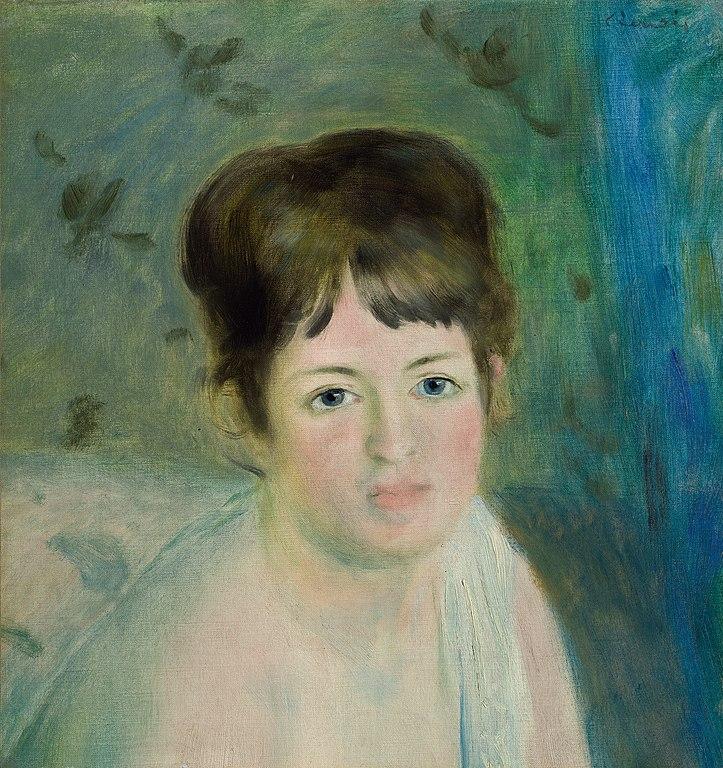 August Renoir, 1IE-1874-147, Tête de femme. Compare: 1874-80ca, Head of a Woman, 39x36, Hermitage (iR10;iR6;R15,p201;R90II,p28;R2,p122;R30,no140;M95)