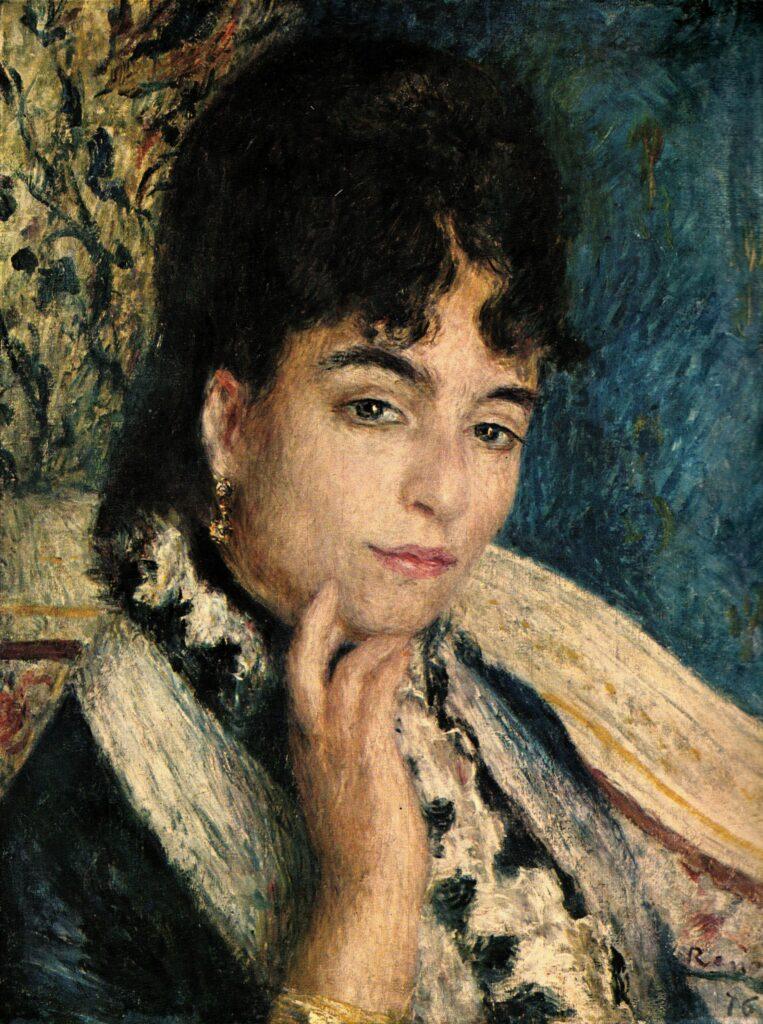 Renoir, 2IE-1876-222, portrait de Mme D... Uncertain: 1876, CR163, Mme Alphonse Daudet (Champrosay), 47x37, Orsay (R30,p50=no255) Also 3IE-1877-189