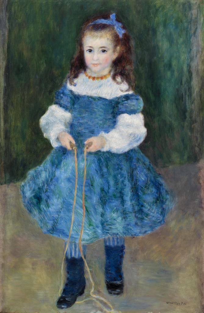 Renoir, 2IE-1876-223, Portrait de jeune fille. Compare: 1876, Delphine Legrand with jump robe, 24x20, Barnes Merion (iR10;Mx;R30,no230)