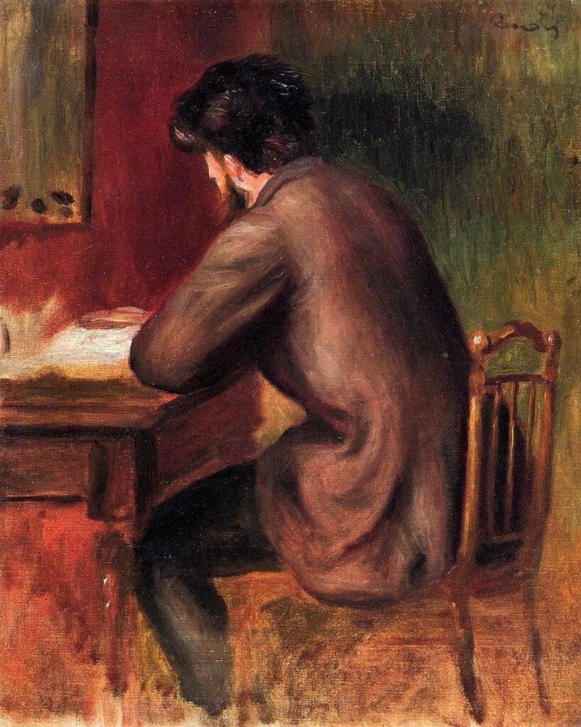 Renoir, 2IE-1876-224, Frédéric Bazille, peintre tué ... Compare: 1875ca (or 1885ca), Posthumous Portrait of Frederic Bazille, 41x33, A2014/01/06 (iRx;iR14)