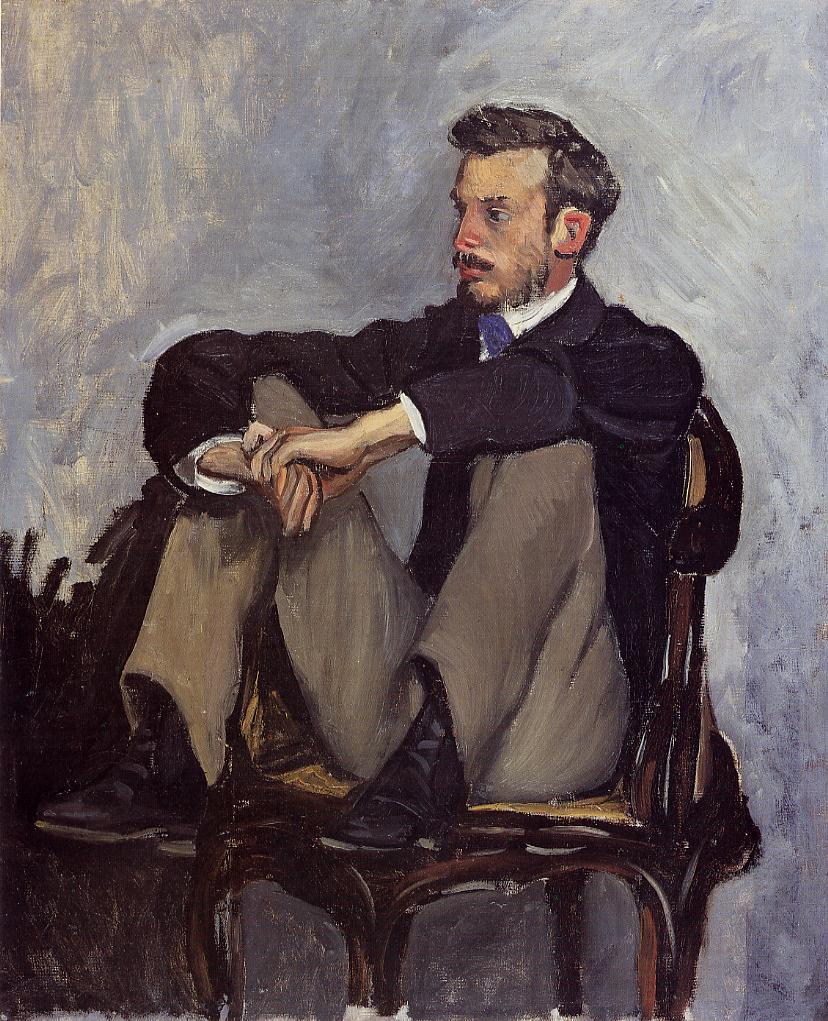 Bazille, 1867, CR22, portrait de Pierre-Auguste Reoir, 62x51, MNBA Algiers or Orsay