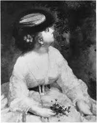 August Renoir, S1866-R. Part of this work probably now: 1866, woman looking at a bird, 81x65, SM Budapest (iR10;iR222;R30,no16;R31,p179;M142)